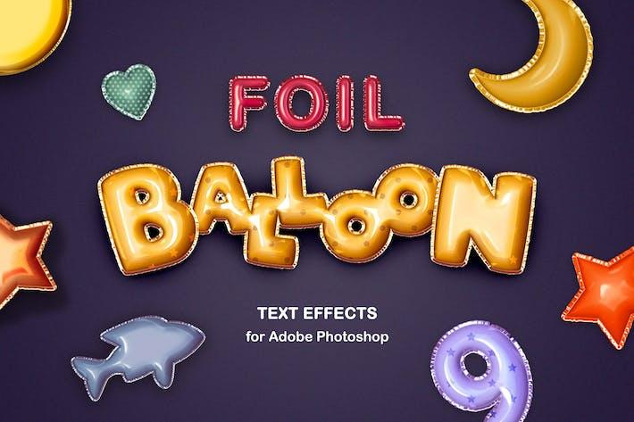 Фольга Воздушный шар Текстовые эффекты
