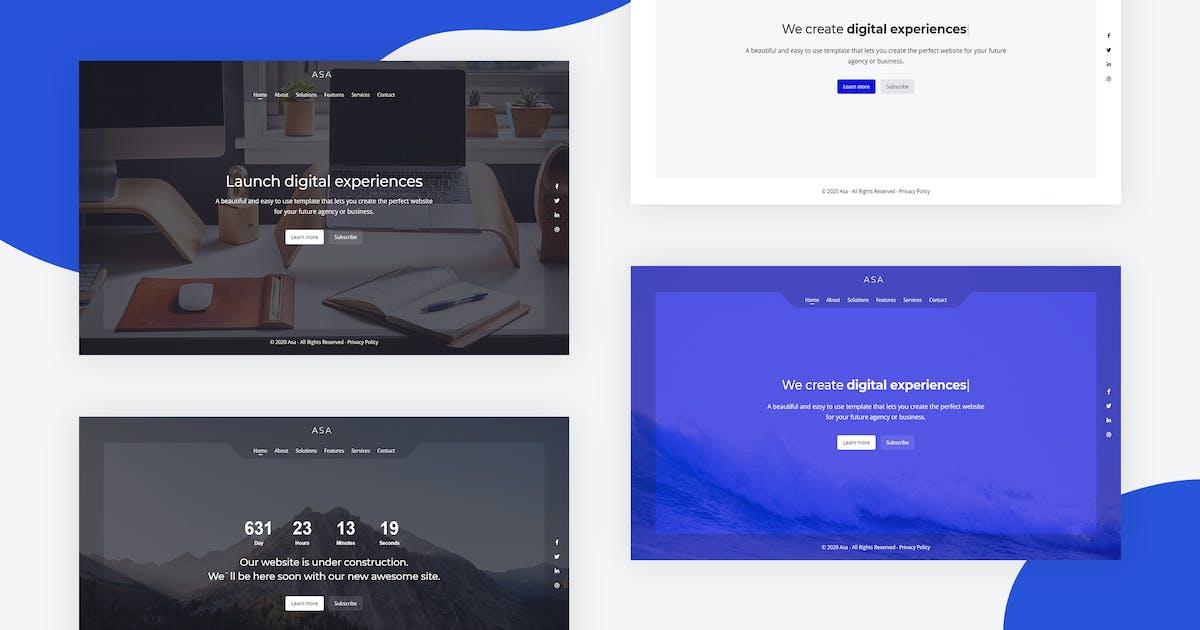 Download Asa - Responsive Coming Soon Template by Erilisdesign