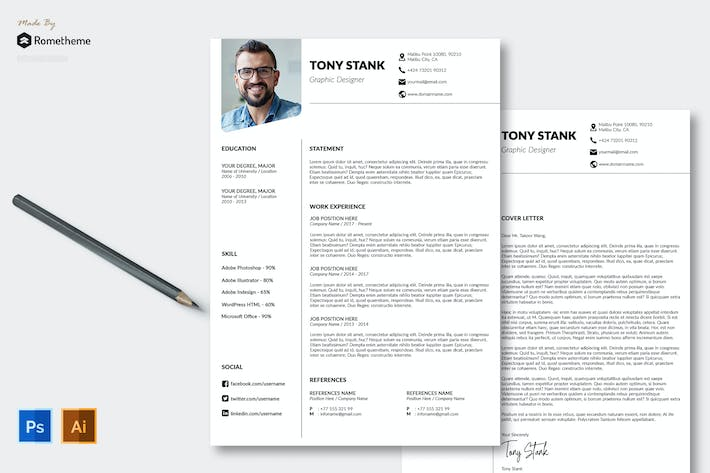 Thumbnail for Clean Resume vol. 04