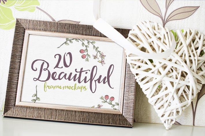Cover Image For 20 Beautiful Frame Mockups