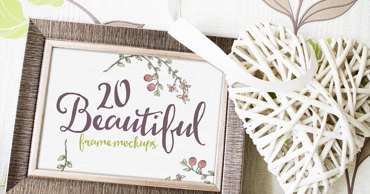 Download 20 Beautiful Frame Mockups by Layerform
