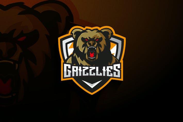 Grizzlies Bear Esports - Mascot & Esport Logo