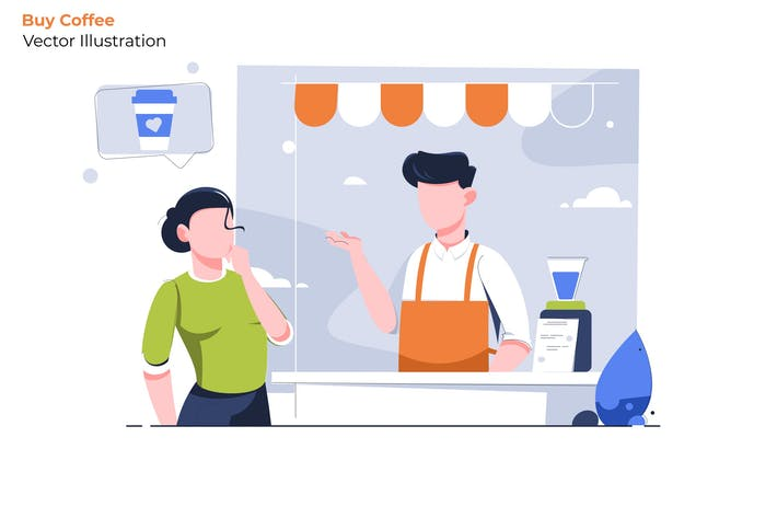Thumbnail for Buy Coffee - Vector Illustration