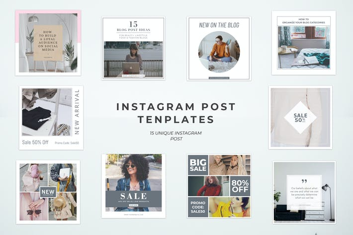 Thumbnail for Simple Instagram Post Templates