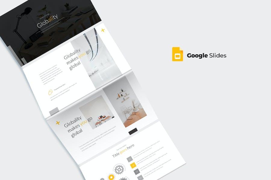 Globality - Google PräsentationsVorlage
