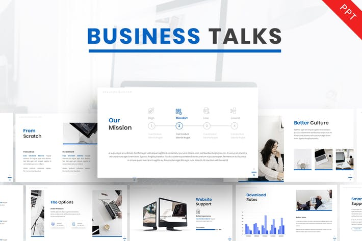 Thumbnail for Business Talk - Company Powerpoint Template