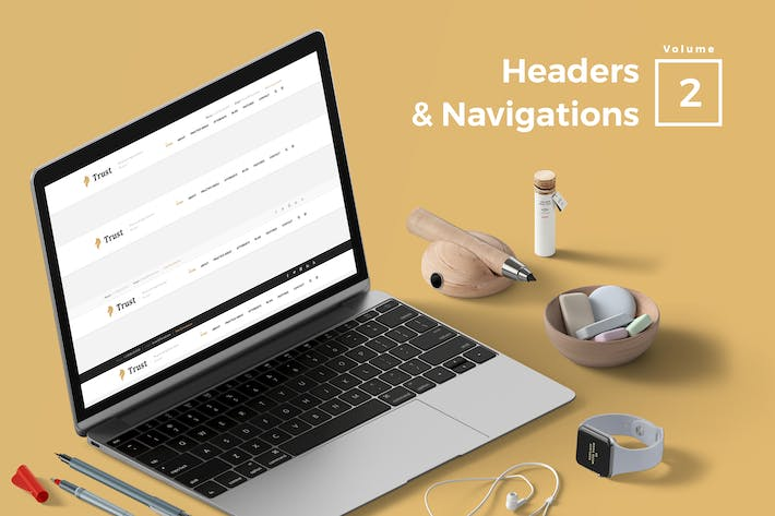 Thumbnail for Headers & Navigation for Web Vol 02