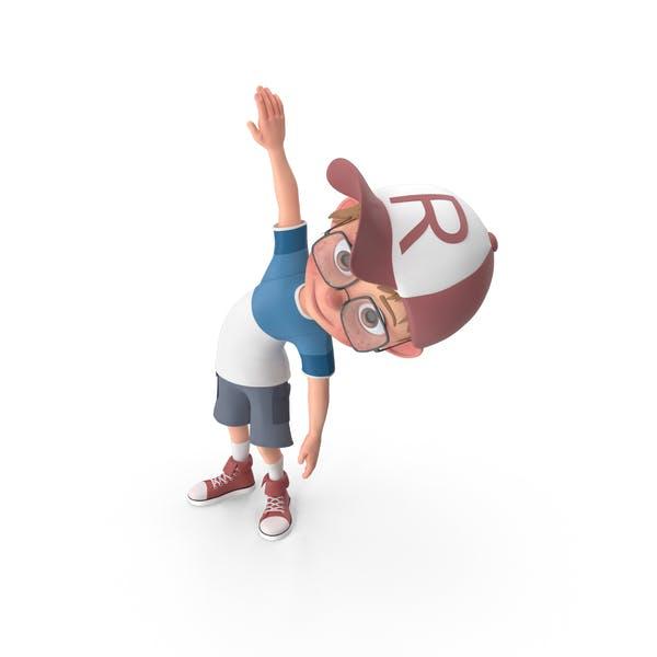 Thumbnail for Cartoon Boy Harry Doing Aerobics