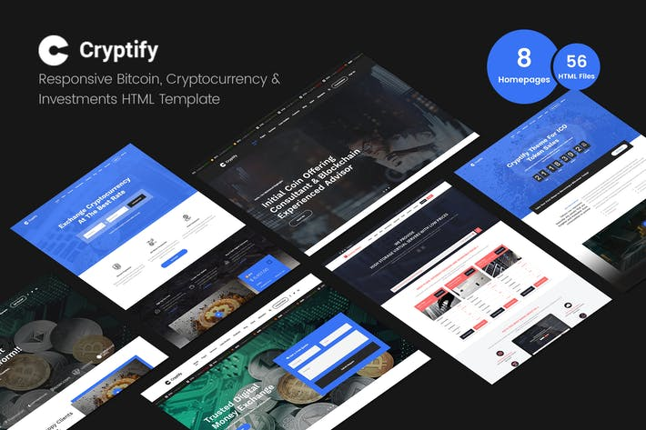 Thumbnail for Cryptify - Bitcoin, Crypto-monnaie Modèle Html