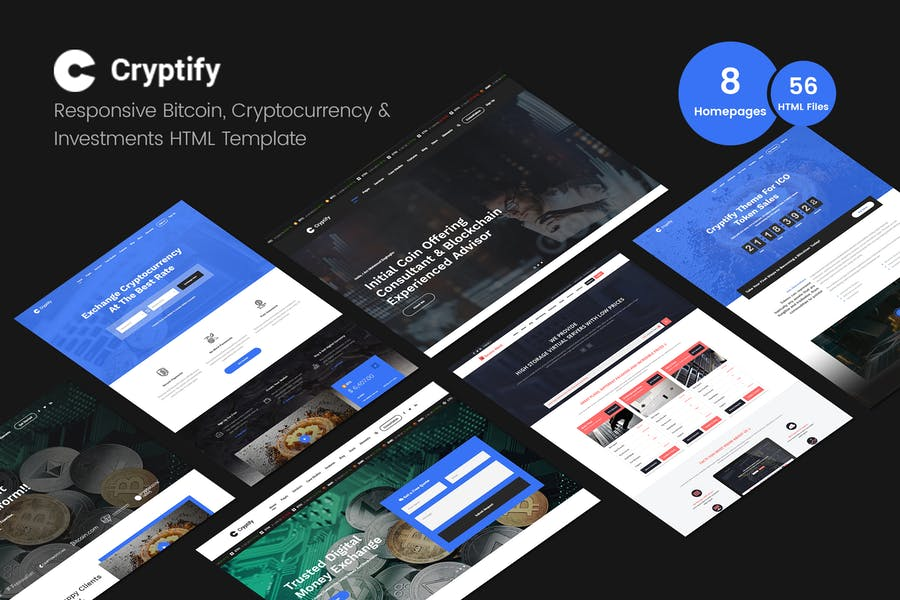 Cryptify - Bitcoin, Cryptocurrency Html Template