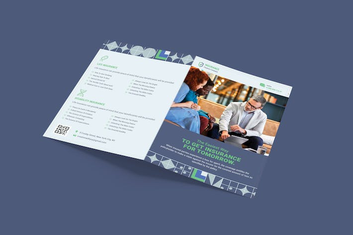 Thumbnail for Insurance Bifold PSD Template