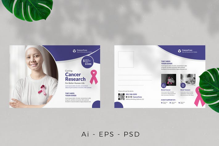 Thumbnail for Cancer Campaign Postcard Design