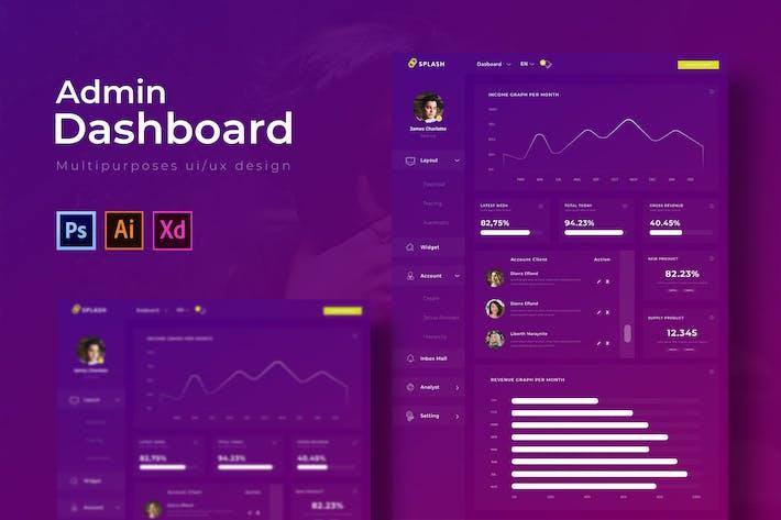 Thumbnail for Splash Dashboard | Admin Template