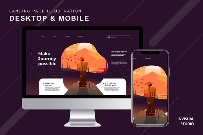 Thumbnail for Make Journey Possible - Landingpage Ilustration