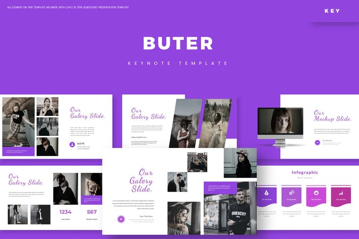 Thumbnail for Buter - Шаблон Keynote