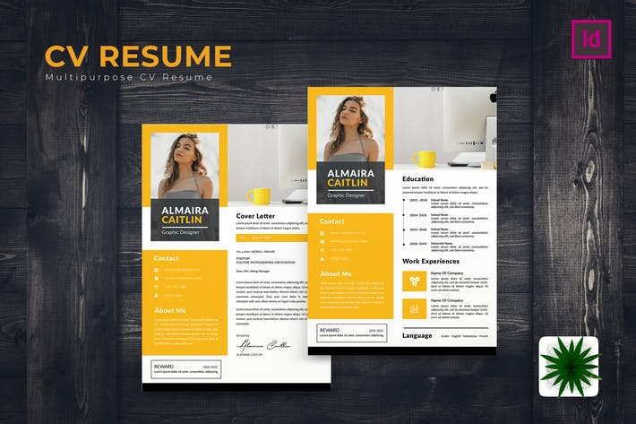 Thumbnail for Work CV Resume Template