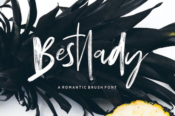 Thumbnail for Bestlady Brush Font
