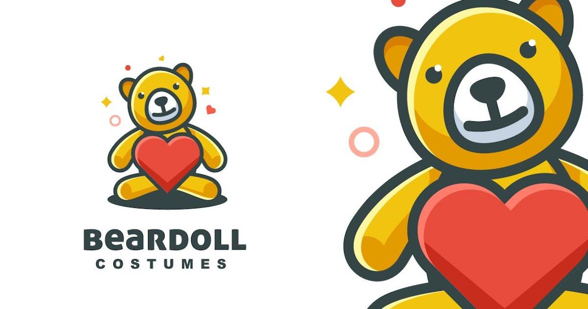 Download Simple Modern Bear Doll Logo by ivan_artnivora