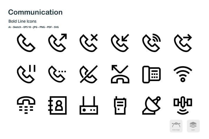 Thumbnail for Communication Mini Bold Line Vector icons