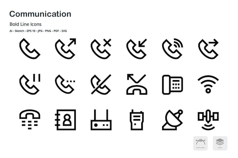 Communication Mini Bold Line Vector icons