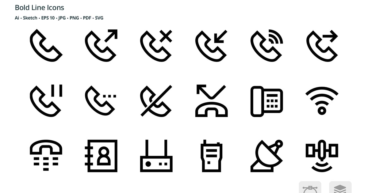Download Communication Mini Bold Line Vector icons by roundicons