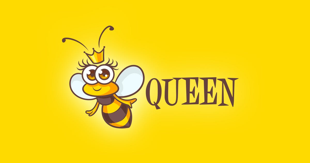 Download Cartoon Queen Bee Mascot Logo by Suhandi