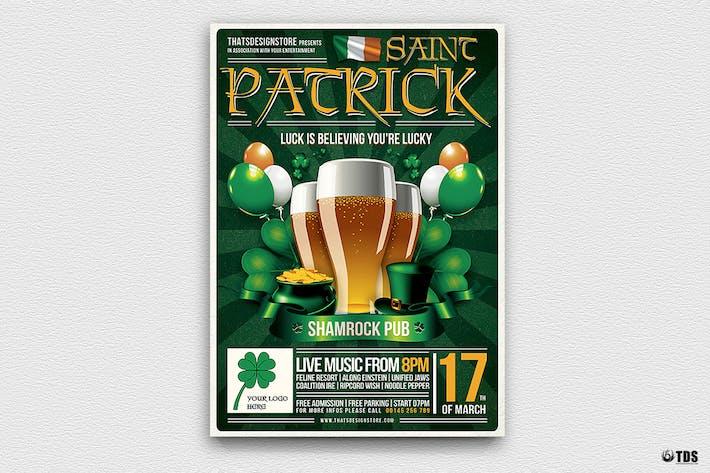 Saint Patricks Day dépliant Modèle V2