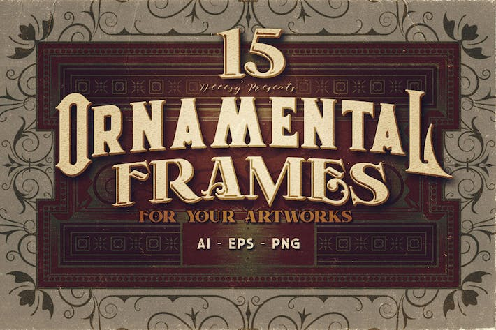 Thumbnail for 15 Ornamental Frames