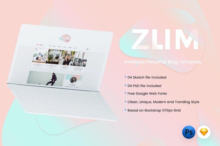 Thumbnail for ZUM - Interface Blog PSD & Sketch Template