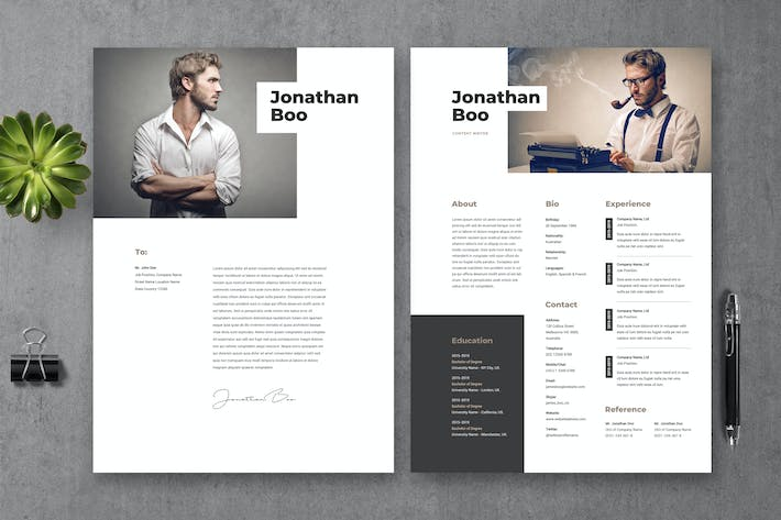 Thumbnail for Resume CV Template 19