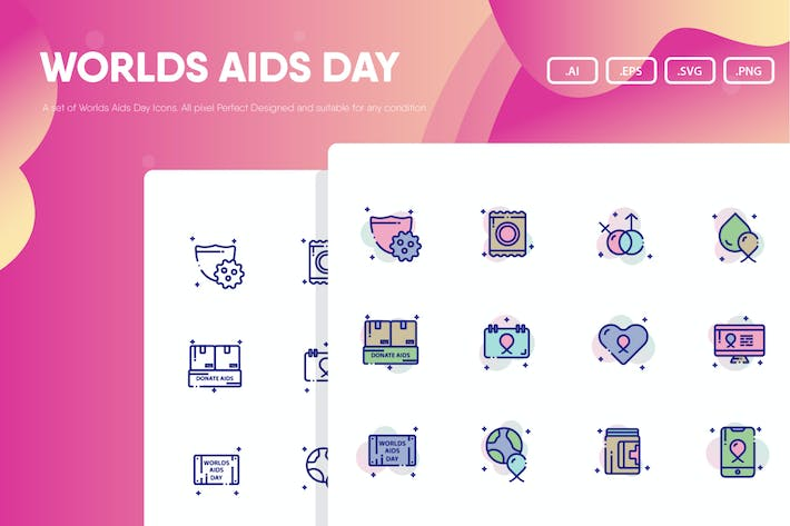 Thumbnail for World Aids Day Icon Pack