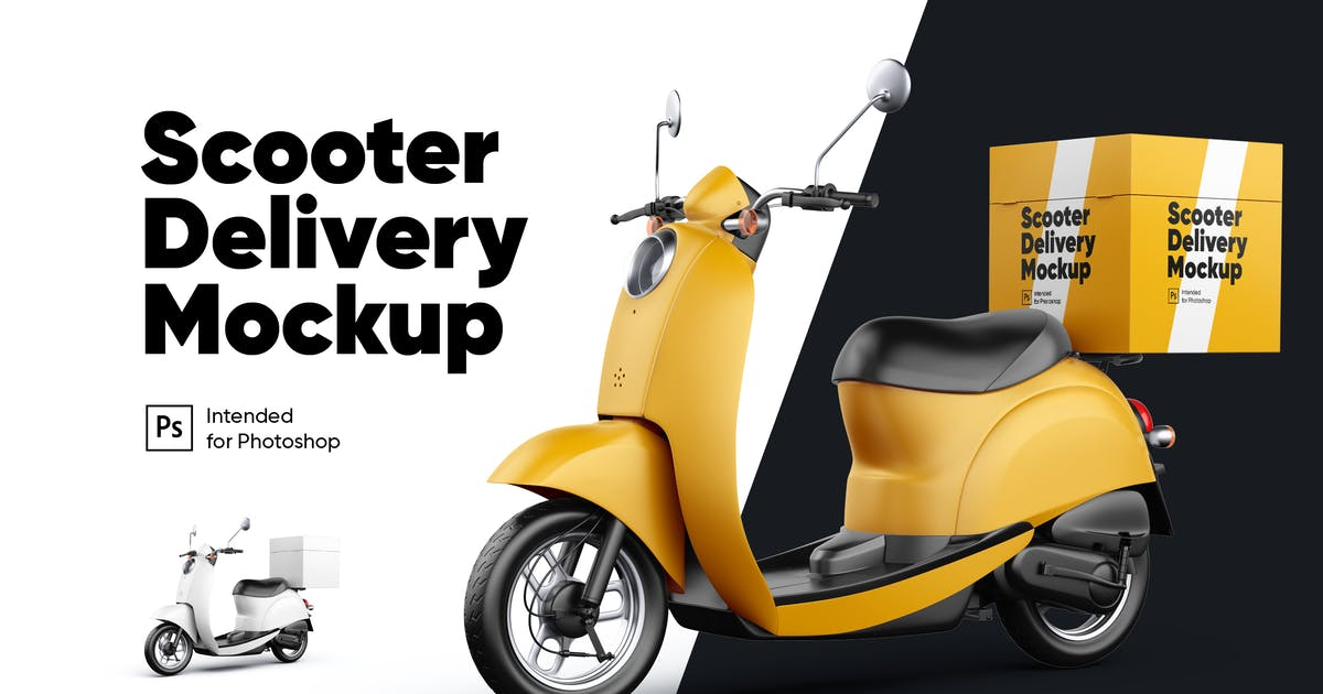 Download Scooter Delivery 02 Mockup by Kavoon