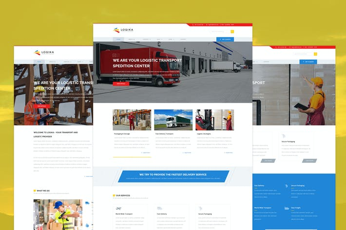 Thumbnail for Logika - Logistic & Transport PSD template