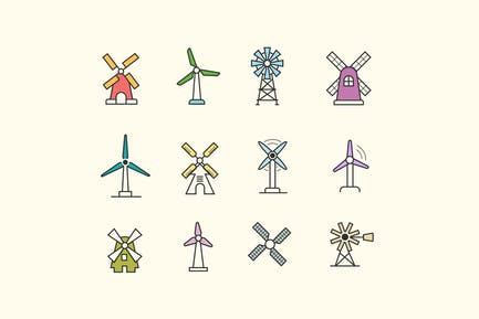 12 Windmill Icons