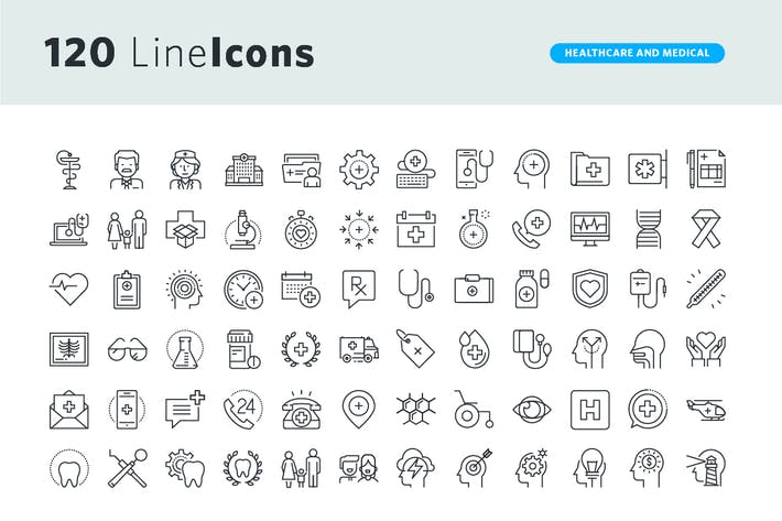 Thumbnail for Thin Line Icons Set