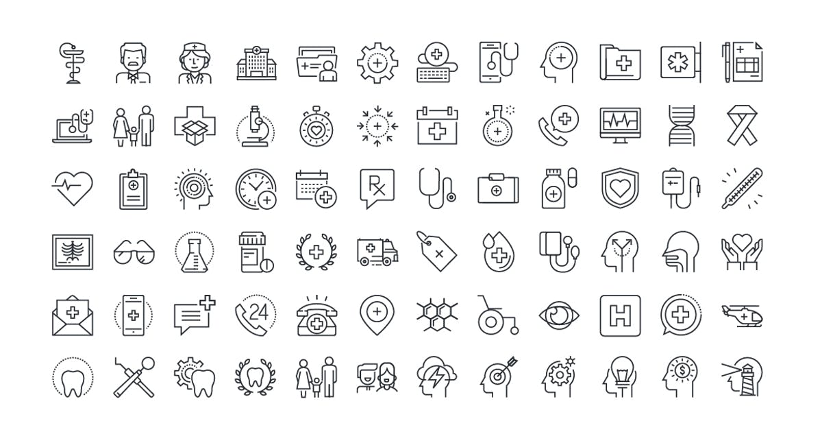Download Thin Line Icons Set by PureSolution