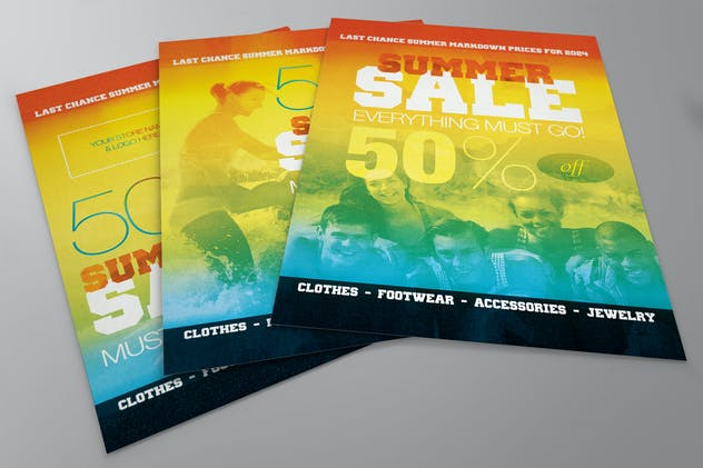 Summer Sale Flyer for your Shop, Store, or Brand