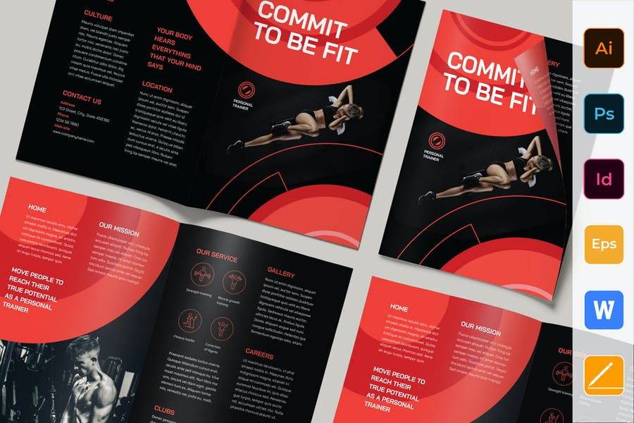 Personal Trainer Brochure Bifold