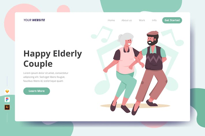 Thumbnail for Happy Elderly Couple - Landing Page