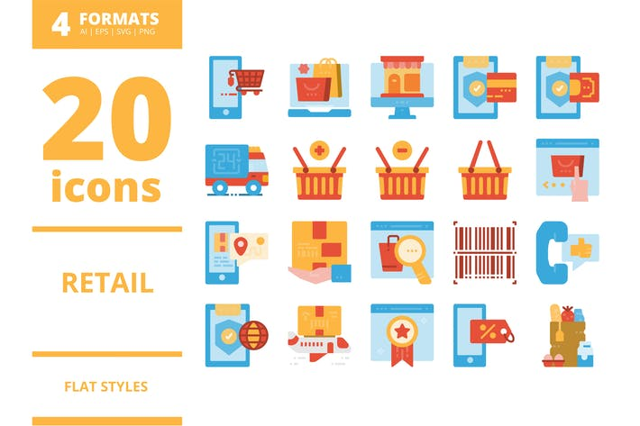 Thumbnail for Retail Flat icons packs