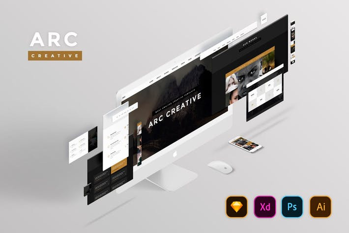 Thumbnail for Arc Creative Website UI Kit