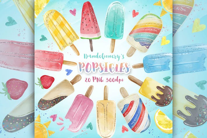 Thumbnail for Aquarell Popsicles Clipart