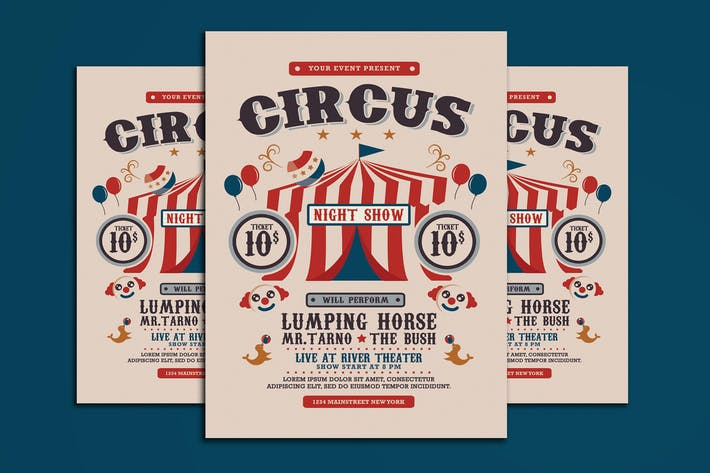 Thumbnail for Circus Carnival Show Flyer