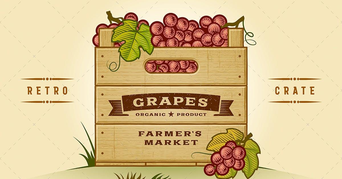 Download Retro Crate Of Grapes by iatsun