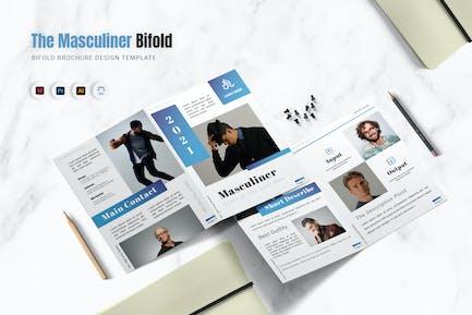 Masculiner Bifold Brochure