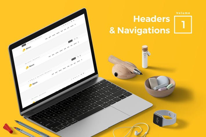 Thumbnail for Headers & Navigation for Web Vol 01
