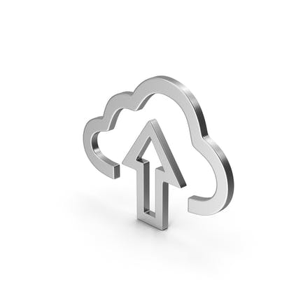 Symbol Cloud Upload Silver