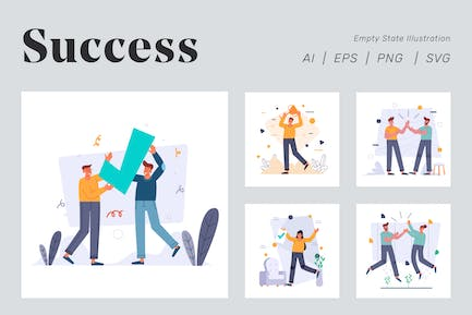 Success Illustration for Empty state