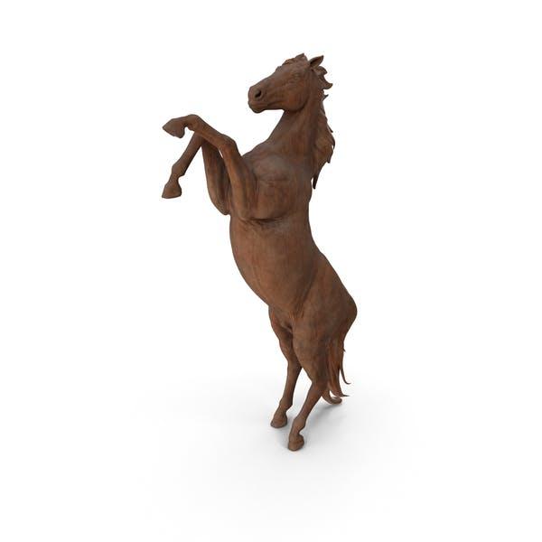 Деревянная статуэтка лошадь