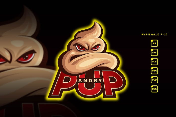 Thumbnail for ANGRY PUP - Esport Logo